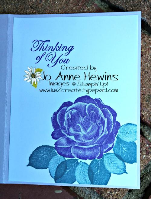 CCMC #577 Healing Hugs Inside by Jo Anne Hewins