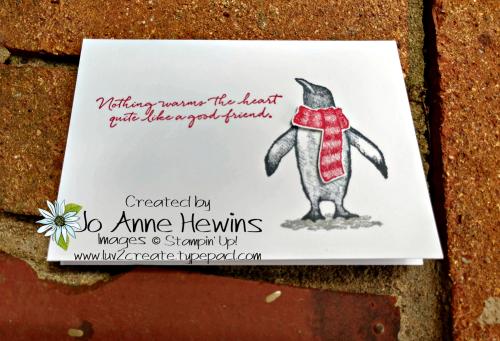 Playful Penguins Note Cards & Envelopes 1 by Jo Anne Hewins