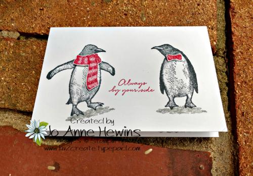 Playful Penguins Note Cards & Envelopes 2 by Jo Anne Hewins