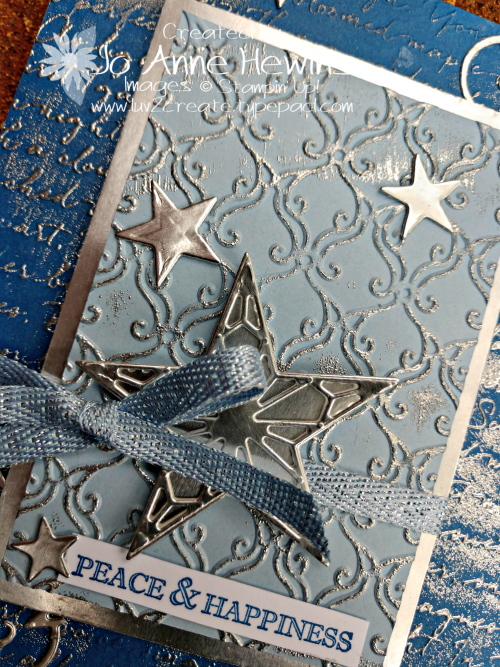 Color Fusers Stitched Stars Close Up of Card by Jo Anne Hewins