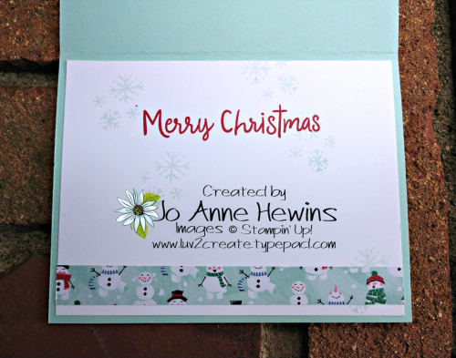 CCMC #578 Let It Snow Specialty DSP Inside by Jo Anne Hewins