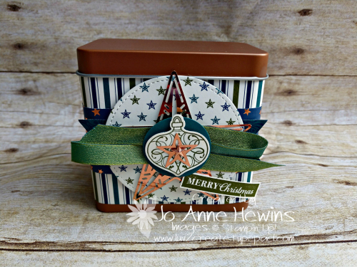 Christmas Gleaming Copper Tin by Jo Anne Hewins