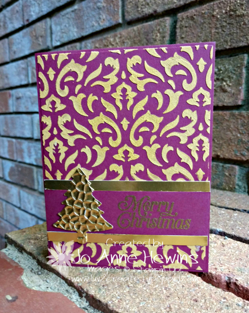 OSAT Gold Embossed Paste Card by Jo Anne Hewins