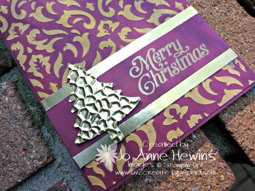 OSAT Gold Embossed Paste Close Up by Jo Anne Hewins