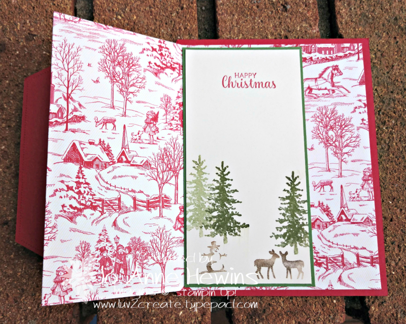 Toile Tidings DSP Open to Second Layer by Jo Anne Hewins