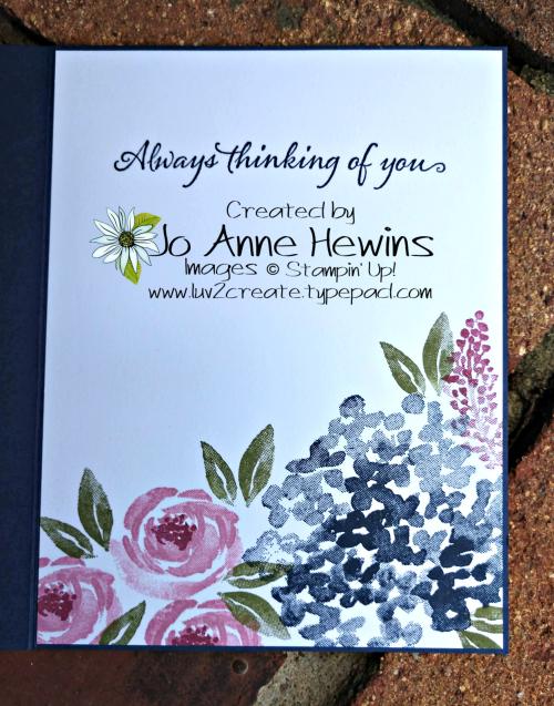 Beautiful Friendship September Inside by Jo Anne Hewins