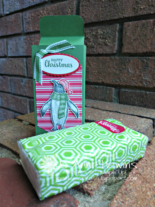Playful Penguins Tissue Box with tissue by Jo Anne Hewins