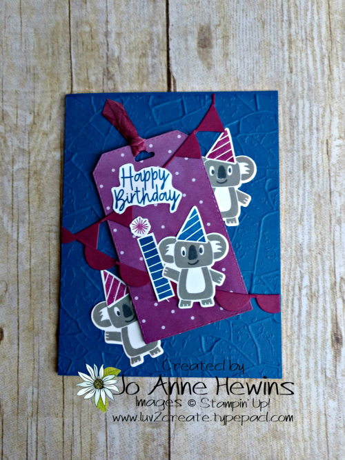 Color Fusers Bonanza Buddies Card by Jo Anne Hewins