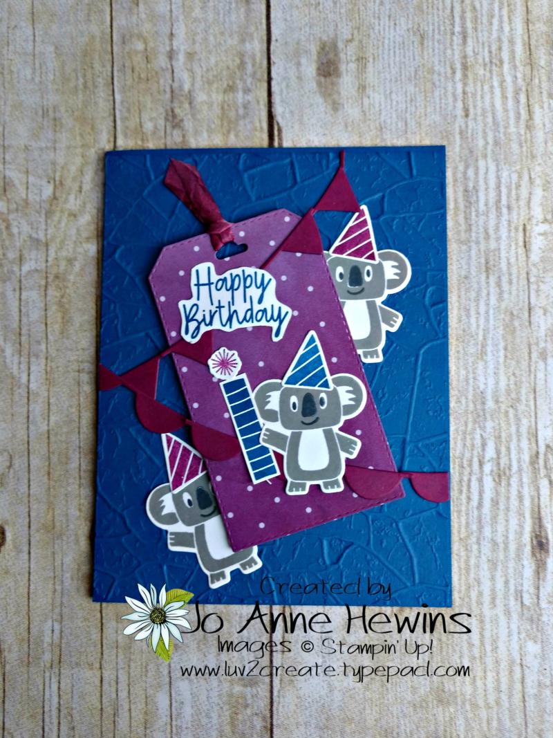 Color Fusers Bonanza Buddies Card by Jo Anne Hewins