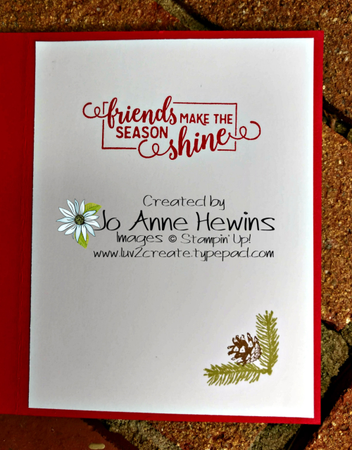 Winter Woods Christmas Ice Inside of Card by Jo Anne Hewins