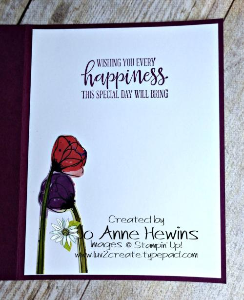 CCMC #595 Peaceful Poppies Inside by Jo Anne Hewins