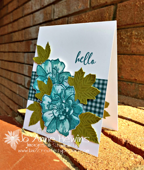 CCMC#583 To a Wild Rose Card by Jo Anne Hewins