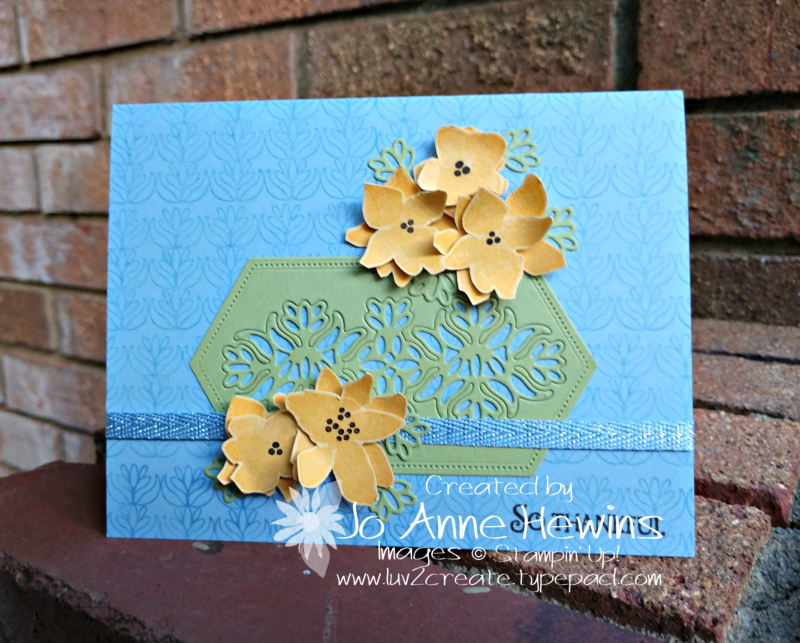 CCMC #584 Parcels & Petals Card by Jo Anne Hewins