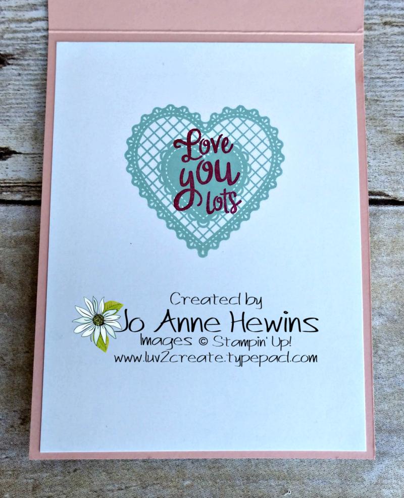CCMC #597 Heart Combo Punch Inside by Jo Anne Hewins