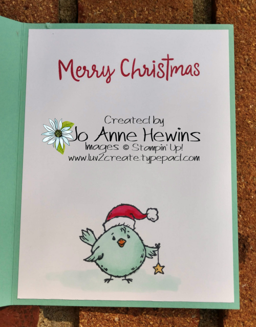 Birds of a Feather For Christmas Inside by Jo Anne Hewins