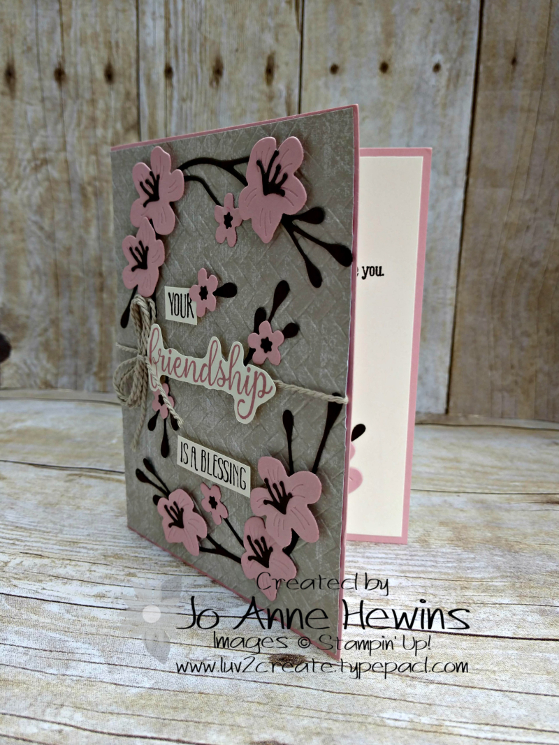 Color Fusers Cherry Blossom Dies Card by Jo Anne Hewins