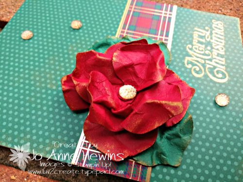 OSAT for November Gleaming Ornaments Punch Pack Close Up of flower by Jo Anne Hewins