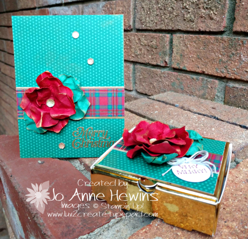 OSAT for November Gleaming Ornaments Punch Pack Card and Box by Jo Anne Hewins
