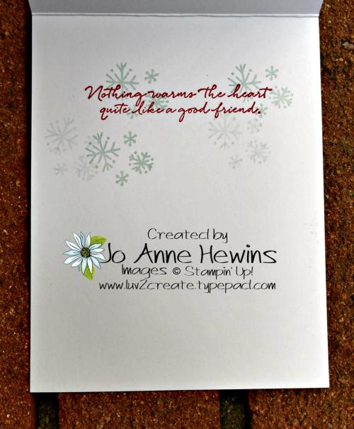 Snowman Season Melting Inside of Card by Jo Anne Hewins