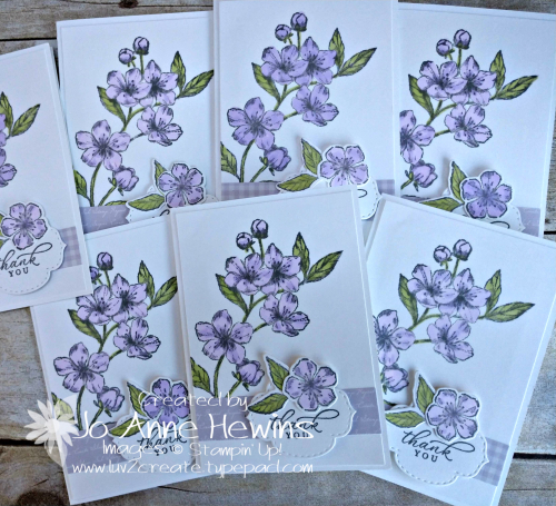 Forever Blossoms in Purple Posy Group by Jo Anne Hewins