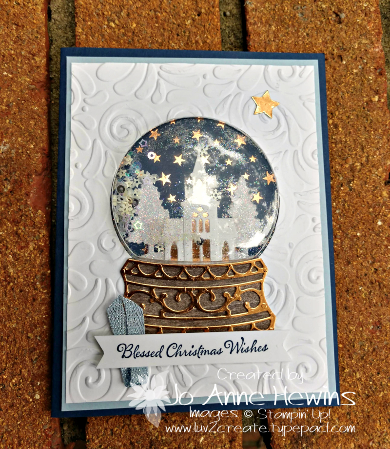 Snow globe Scenes Christmas Project by Jo Anne Hewins
