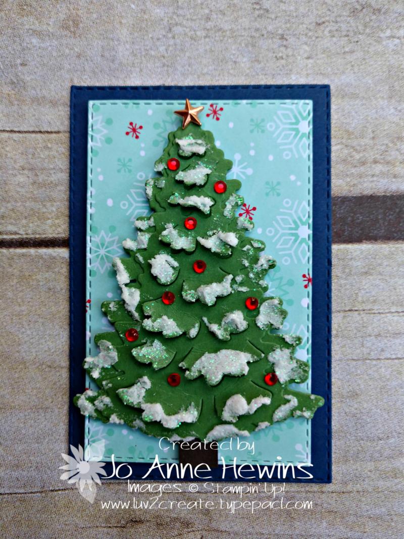 Christmas Sampler In the Woods dies by Jo Anne Hewins