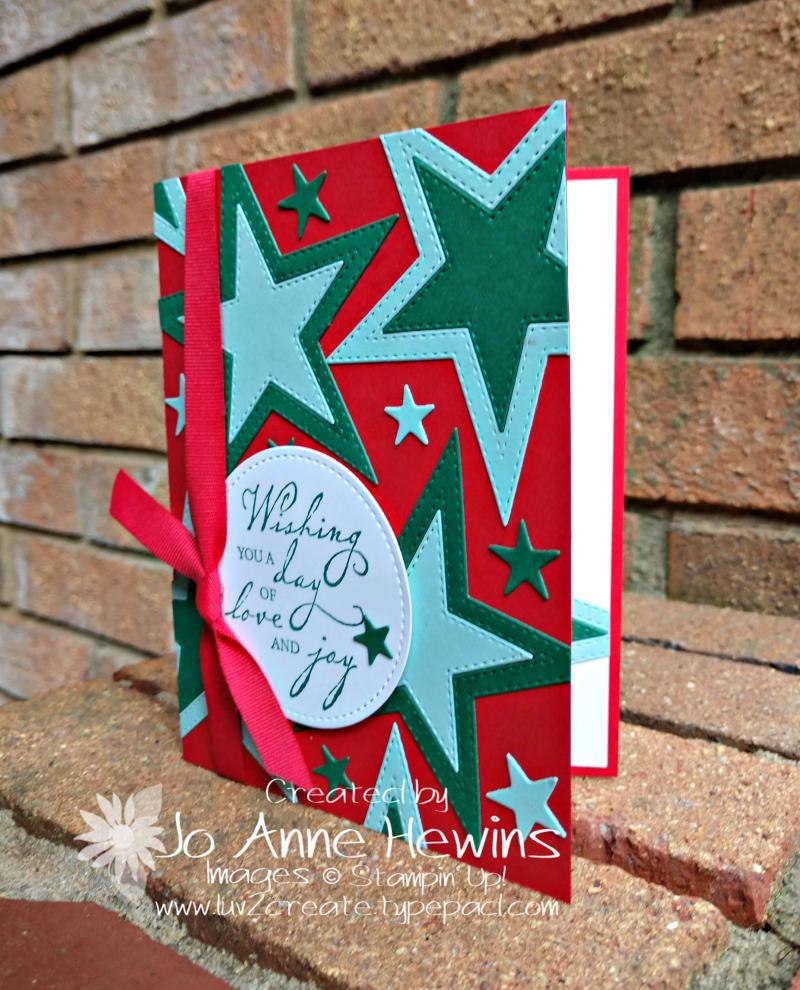 CCMC#589 Stitched Stars Card by Jo Anne Hewins