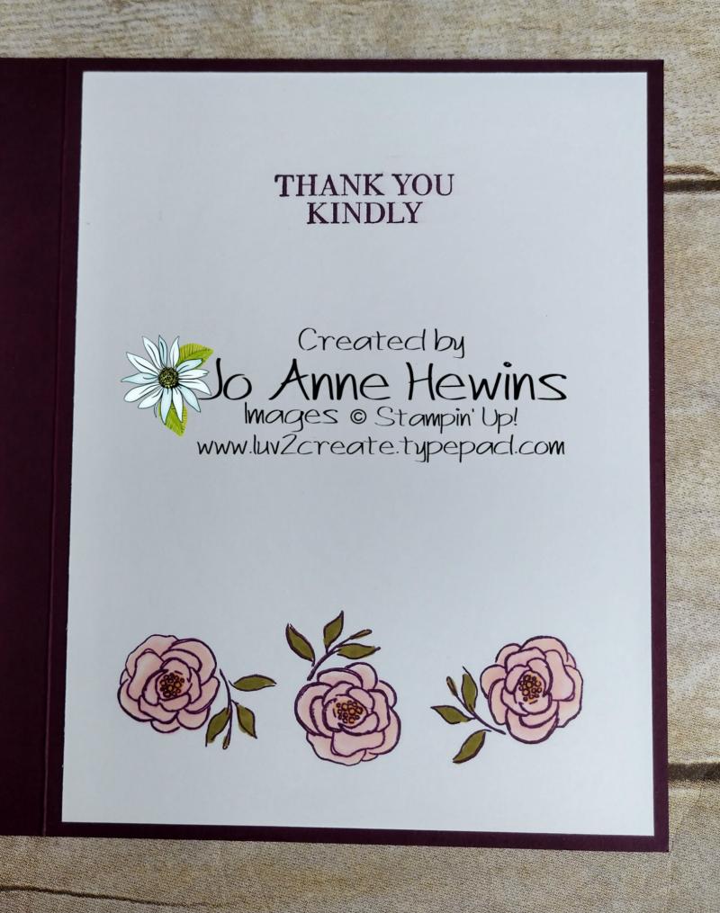 CCMC #604 Best Dressed Inside of Card by Jo Anne Hewins