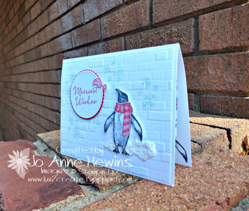 Playful Penguins Gift Card Holder Card by Jo Anne Hewins