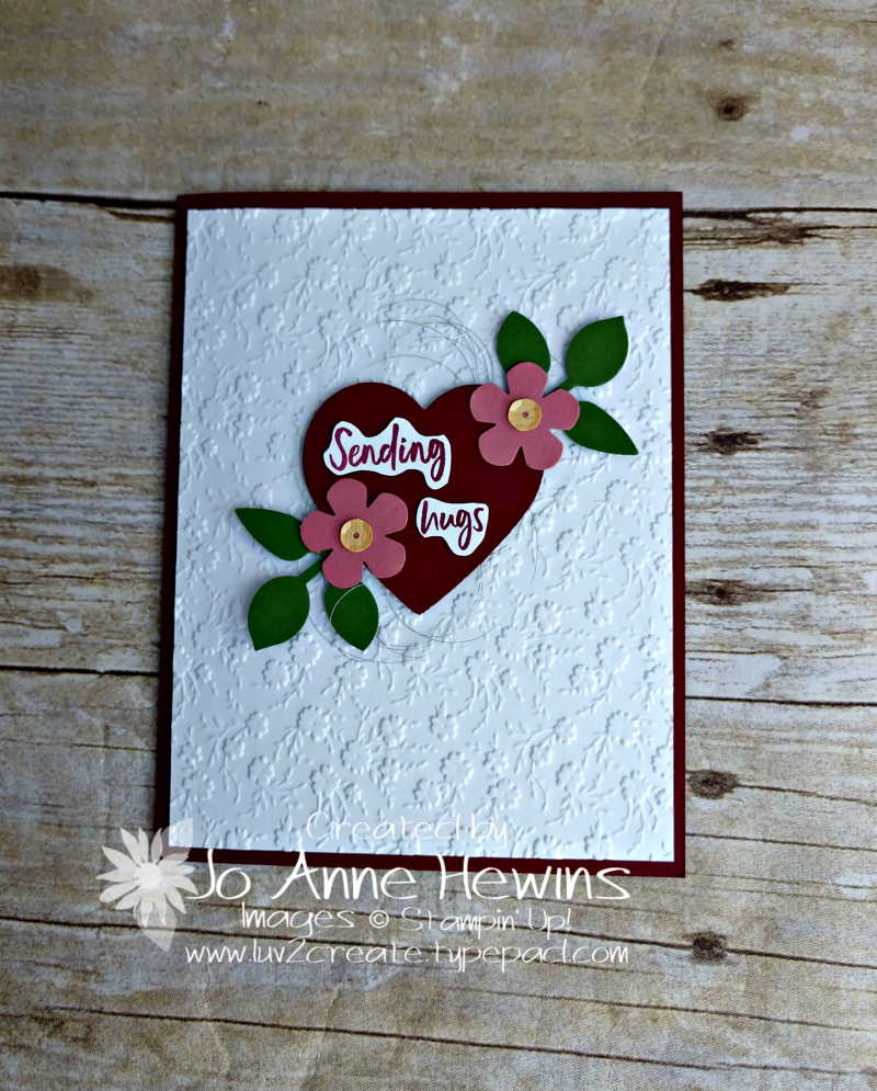 Heart Punch Pack Card by Jo Anne Hewins