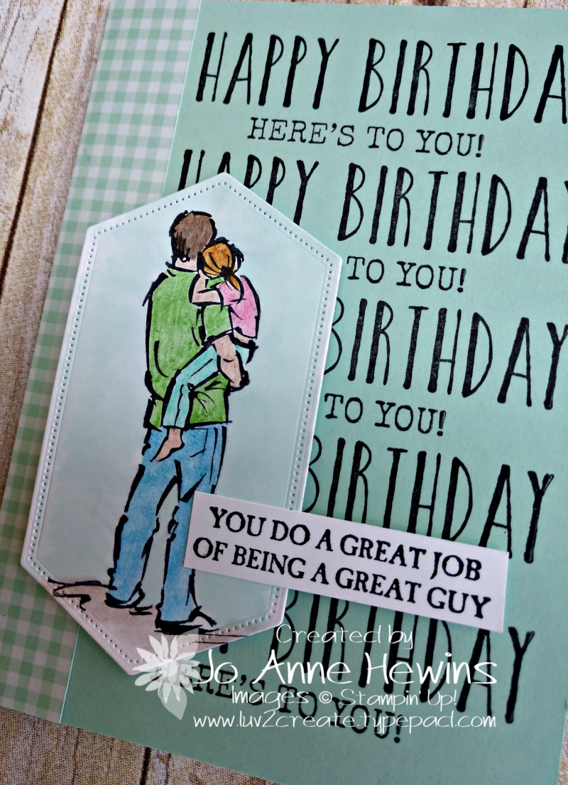 A Good Man Birthday Close Up by Jo Anne Hewins