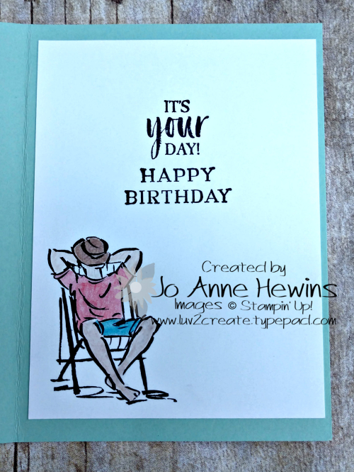 A Good Man Birthday Inside of Card by Jo Anne Hewins