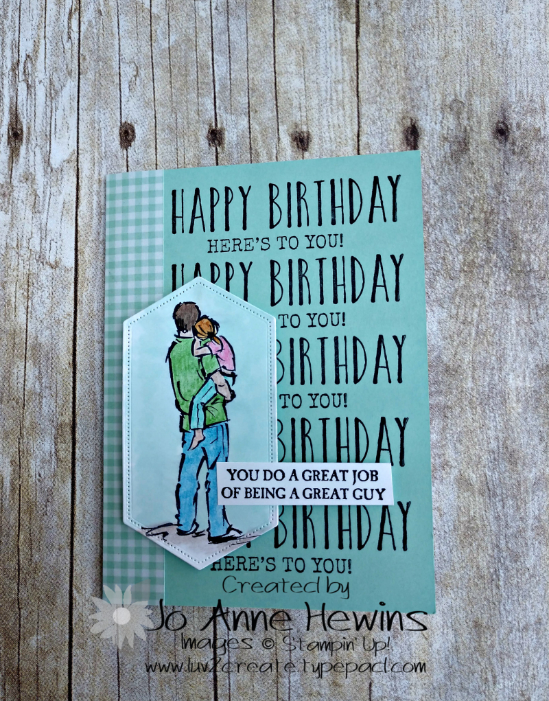 A Good Man Birthday Card for SIL by Jo Anne Hewins