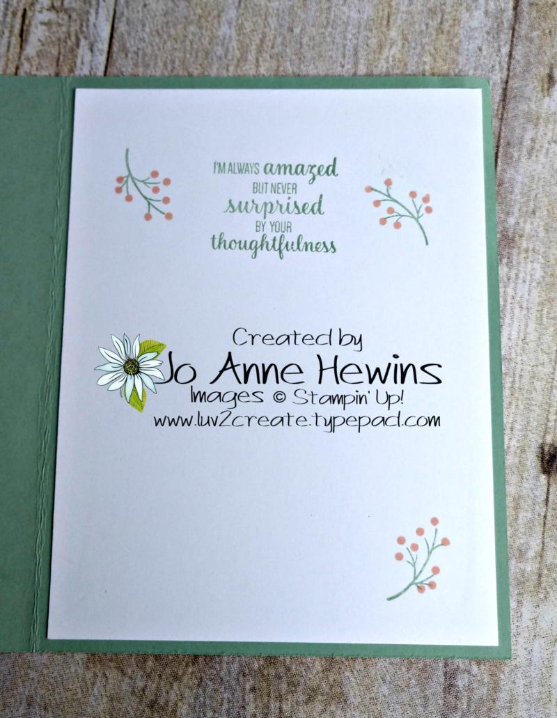CCMC #593 Small Bloom Punch Inside by Jo Anne Hewins