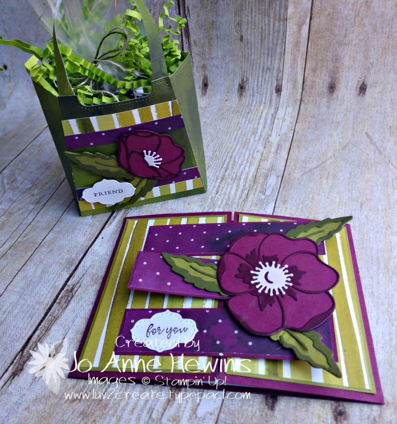 OSAT Best Dressed Purse and Poppies by Jo Anne Hewins