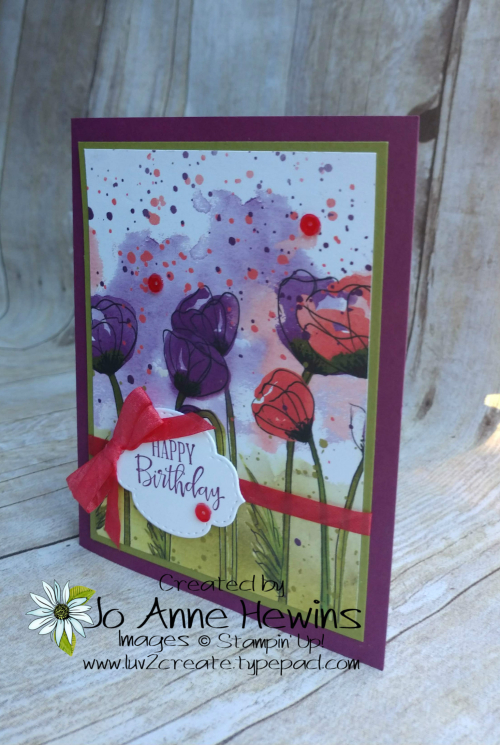 CCMC #595 Peaceful Poppies Card by Jo Anne Hewins