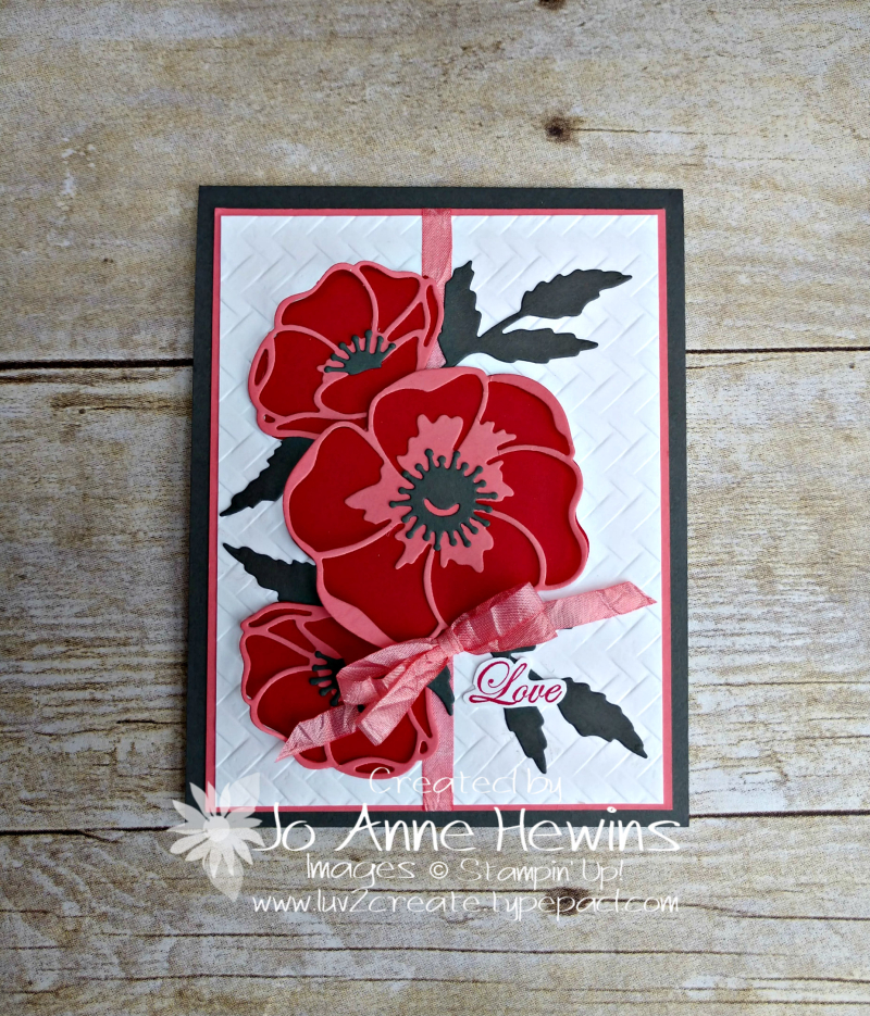 CCMC#599 Poppy Moments Project by Jo Anne Hewins