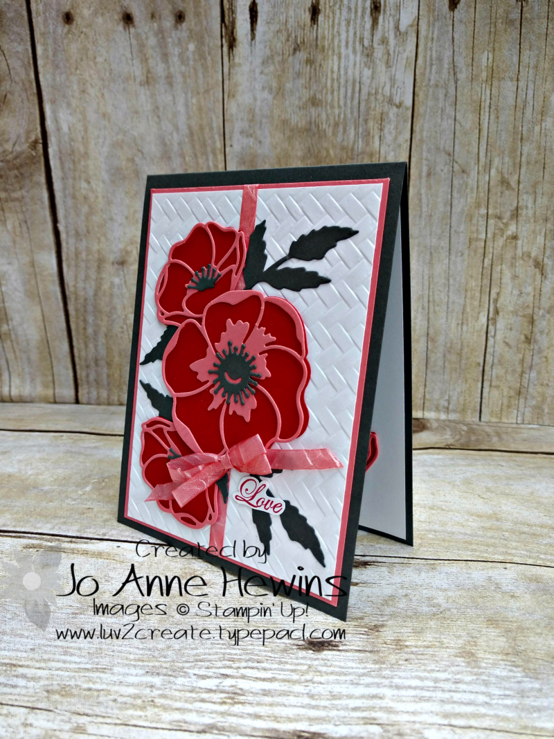 CCMC#599 Poppy Moments Card by Jo Anne Hewins