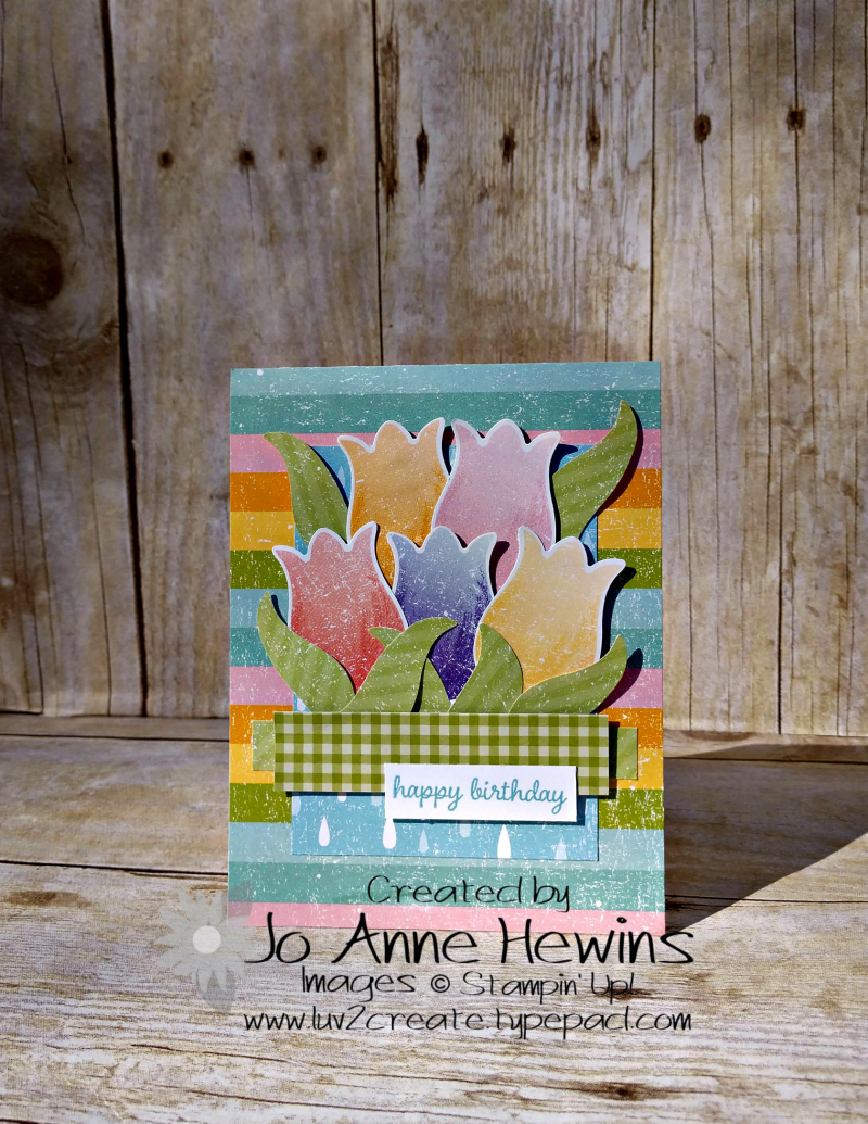 CCMC#600 Pleased as Punch Tulip Bouquet by Jo Anne Hewins