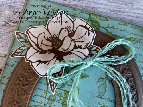 Color Fusers for March Magnolia Close Up of Top of Card by Jo Anne Hewins