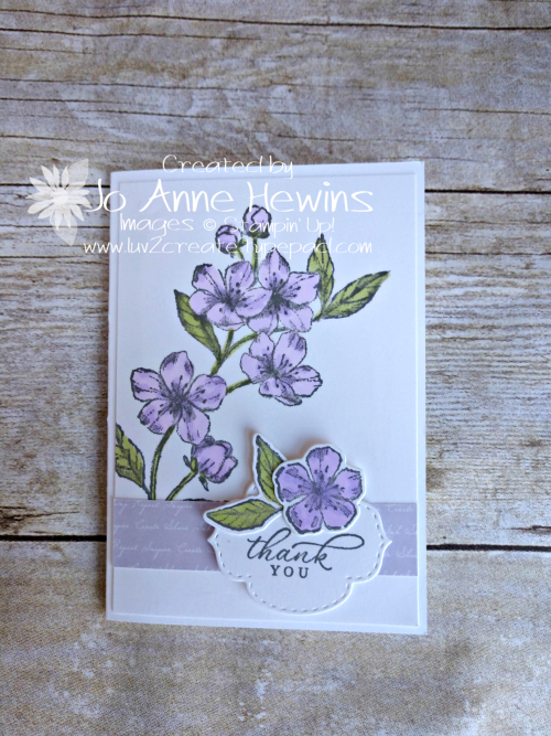 Forever Blossom in Purple Posy by Jo Anne Hewins