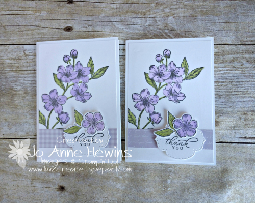Forever Blossom Purple Posy by Jo Anne Hewins