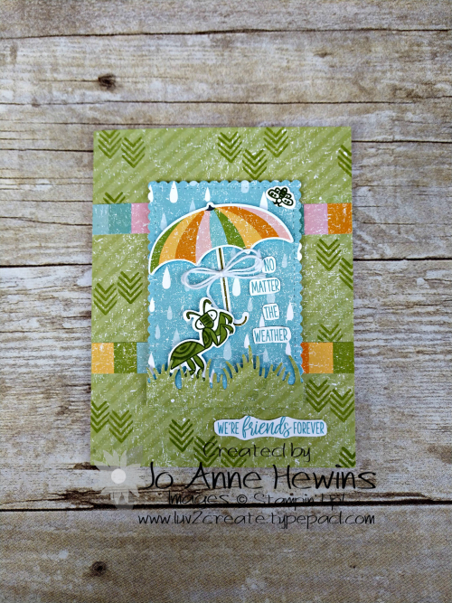 OSAT March Chick Ewe Out Card by Jo Anne Hewins
