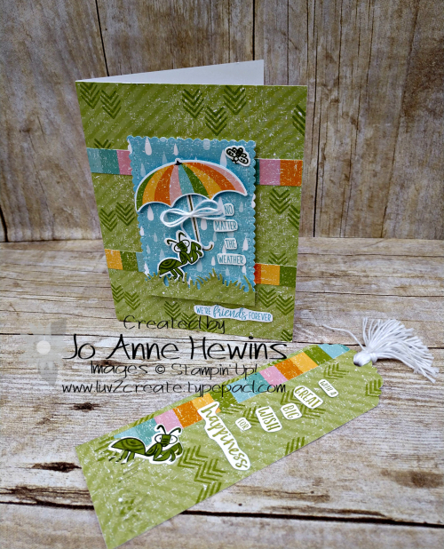 OSAT March Card and Book Mark by Jo Anne Hewins