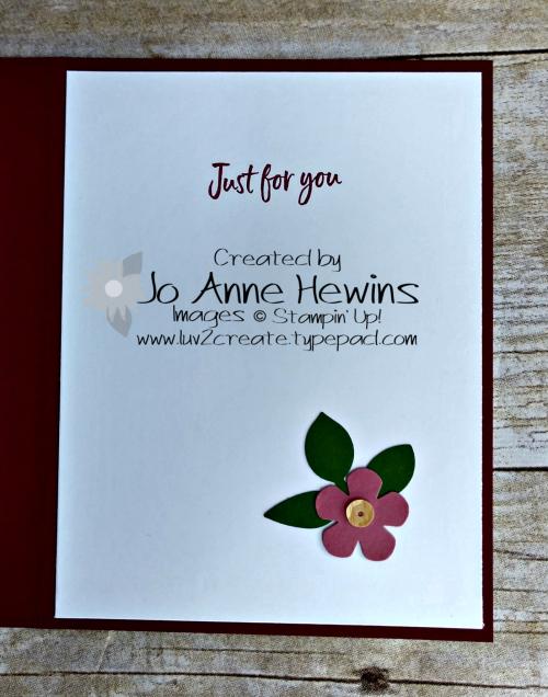 Heart Punch Card Inside by Jo Anne Hewins