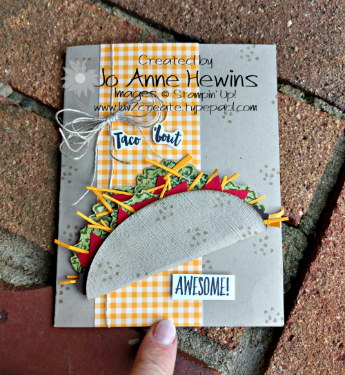 Witty-cisms Taco Card by Jo Anne Hewins