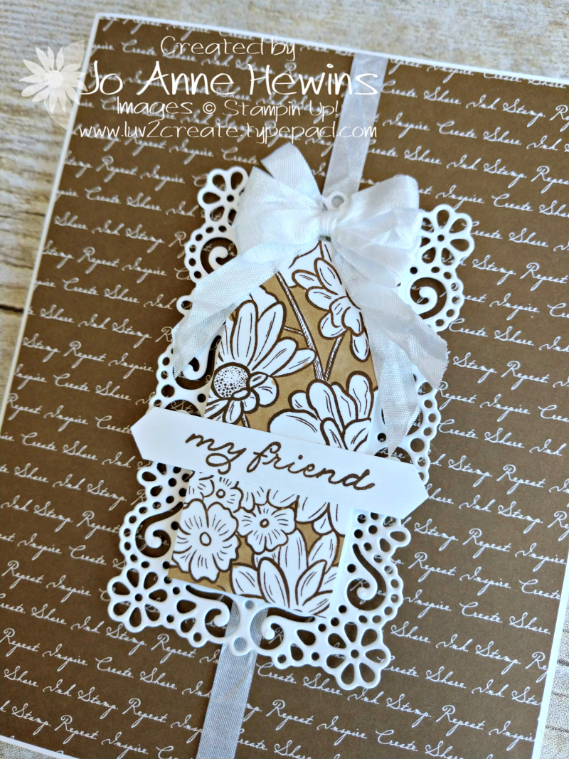 Ornate Style Neutral Script Close Up by Jo Anne Hewins
