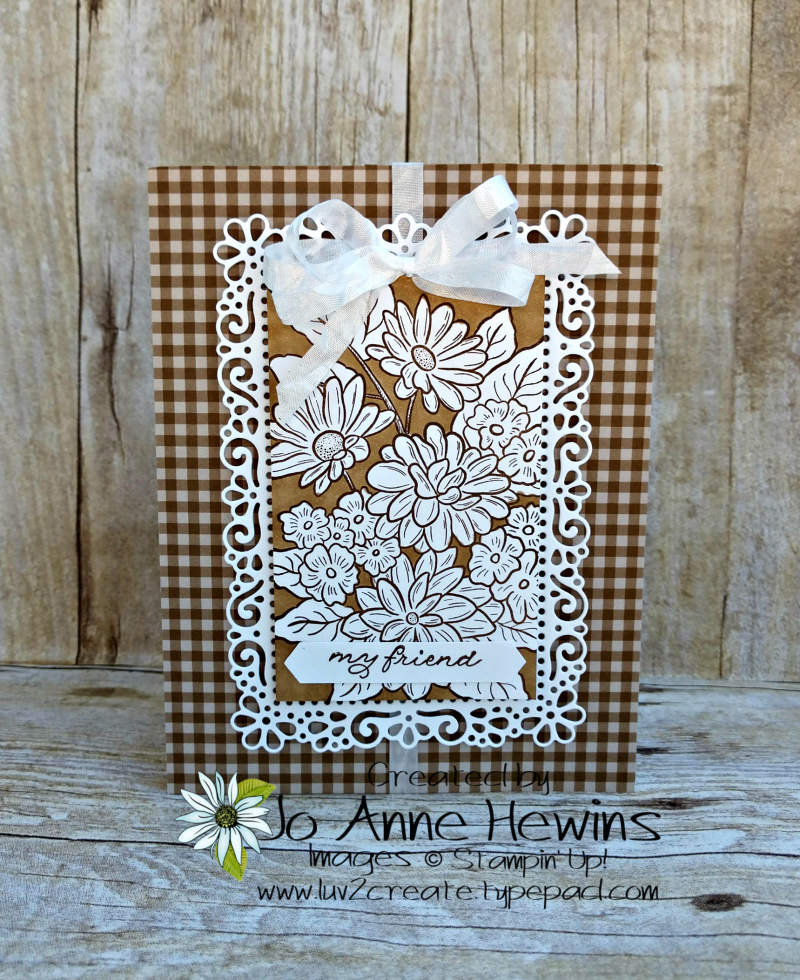 Ornate Style Neutral Check Card by Jo Anne Hewins