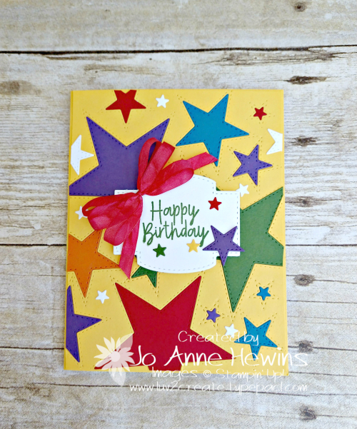 Stitched Stars Birthday Card by Jo Anne Hewins