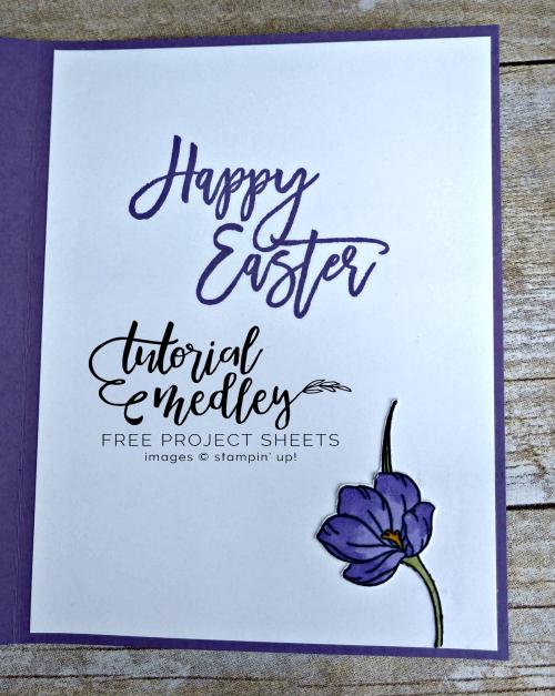 Easter Promise February Medley Inside of Card